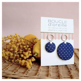 bouclesdoreilles-MIREILLE-bleu-dameline