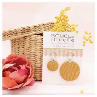 bouclesdoreilles-MIREILLE-jaune-dameline